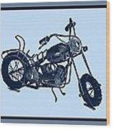 Motorbike 1a Wood Print by Mauro Celotti