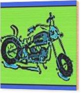 Motorbike 1c Wood Print
