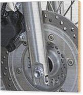 Motorcycle Disc Brake Wood Print by Tony Craddock