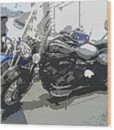 Motorcycle Ride - Three Wood Print
