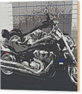 Motorcycle Ride - Two Wood Print