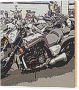 Motorcycle Rides - Five Wood Print