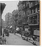 Mott Street In New York Citys Chinatown Wood Print by Everett
