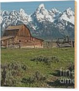 Moulton Barn - Grand Tetons Wood Print