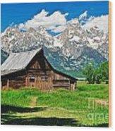 Moulton Barn Le Wood Print