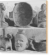 Mound Builders: Pottery Wood Print