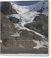 Mount Andromeda And Athabasca Glacier Wood Print