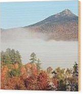 Mount Chocorua Autumn Fog Wood Print
