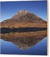 Mount Errigal, Lough Nacung, Dunlewy Wood Print