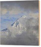 Mount Hood Through Storm Clouds Oregon Wood Print