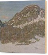 Mount Kolsaas In Sunlight Wood Print