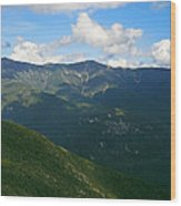 Mount Lafayette From Top Of Cannon Mountain Wood Print