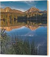Mount Lassen Reflecting 2 Wood Print