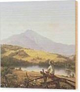 Mount Mansfield Wood Print