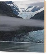 Mount Margerie At Glacier Bay Alaska Usa Wood Print