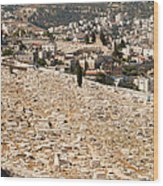 Mount Of Olives Wood Print