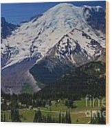 Mount Rainier Again Wood Print