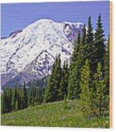 Mount Rainier X Wood Print