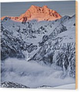 Mount Rolleston In The Dawn Light Wood Print by Colin Monteath