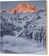 Mount Rolleston In The Dawn Light Wood Print