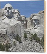 Mount Rushmore Vertical Wood Print