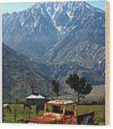 1941 Willys Week End Project Under Mount San Jacinto  Wood Print