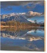 Mount Si Reflection Wood Print