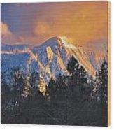 Mount Si Winter Wonder Wood Print