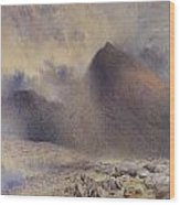 Mount Snowdon Through Clearing Clouds Wood Print