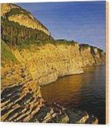 Mount St Alban Cliffs At Sunset Wood Print