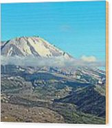 Mount St Helens And Castle Lake Wood Print
