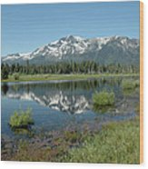 Mount Tallac Sky Projections Wood Print
