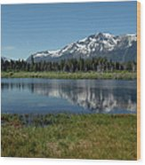 Mount Tallac View Of The Cross Wood Print