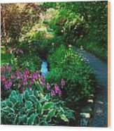 Mount Usher Gardens, Co Wicklow Wood Print
