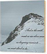 Mount Washington Climb Wood Print