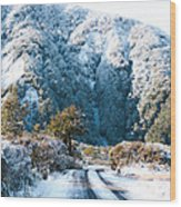 Mountain And Ice Wood Print