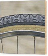 Mountain Bike Tyre Wood Print