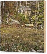 Mountain Cabin Wood Print by John Greim