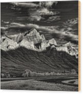 Mountain Canmore Wood Print