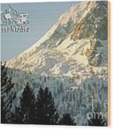 Mountain Christmas 2 Austria Europe Wood Print