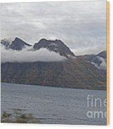 Mountain Clouds Wood Print