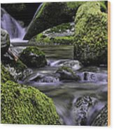 Mountain Creek Wood Print