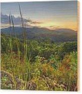 Mountain Evening Wood Print