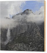 Mountain In The Clouds Wood Print