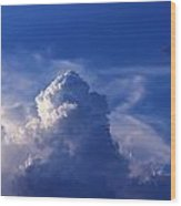 Mountain In The Sky Wood Print