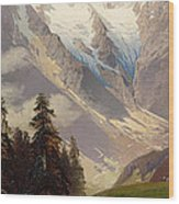 Mountain Landscape With The Grossglockner Wood Print