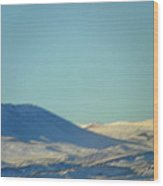 Mountain Light And Shadow Wood Print
