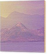 Mountain Morning Sunrise Wood Print