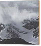 Mountain Panoramic In Winter, Spray Wood Print