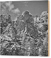 Mountain Peaks Wood Print
